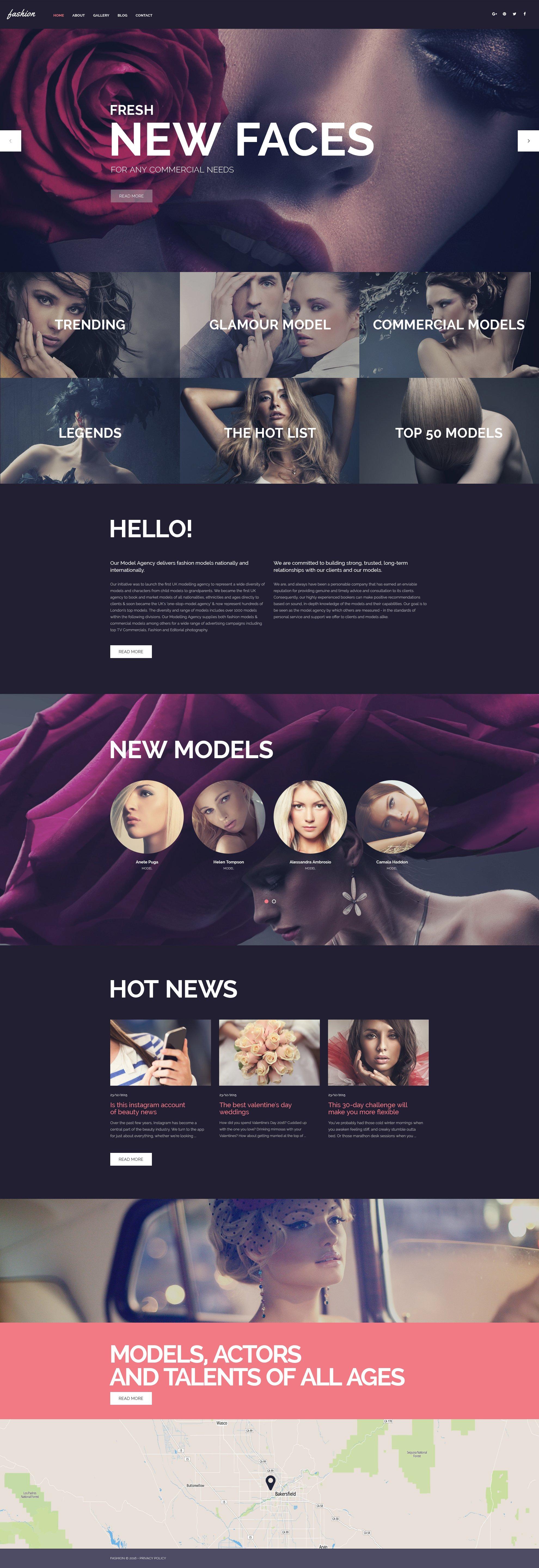 Responsywny motyw WordPress Fashion Spot #58639