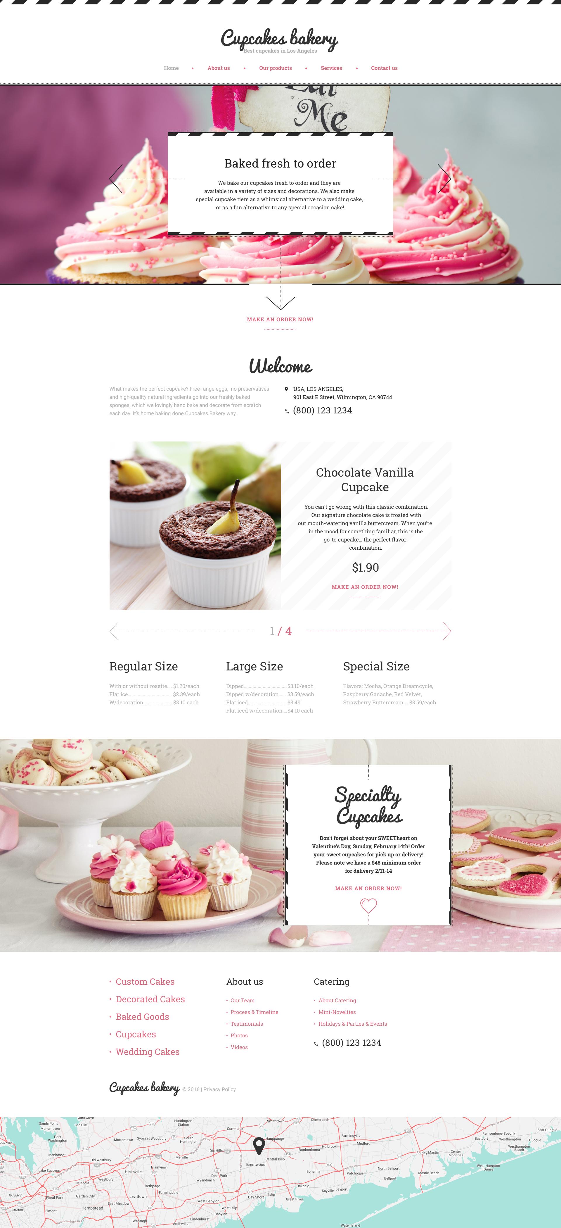 """Responzivní Šablona webových stránek """"Cupcakes Bakery"""" #58627"""