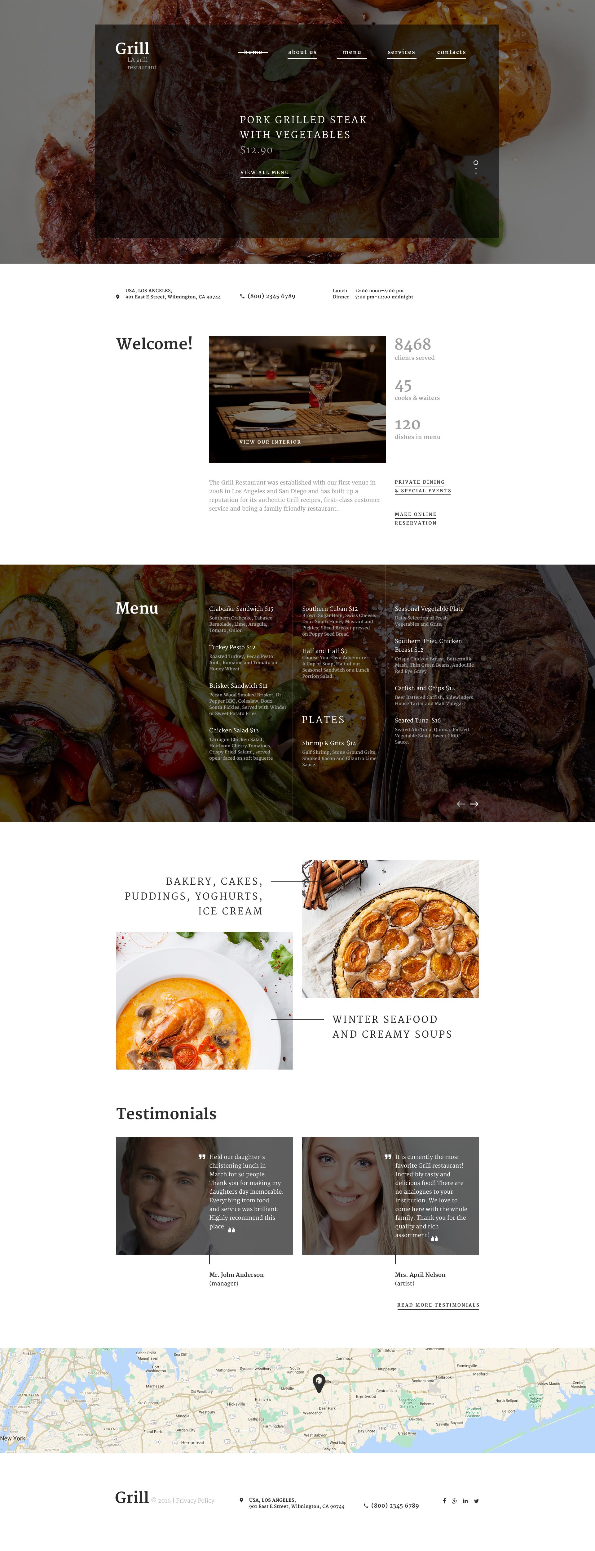 Responzivní Šablona webových stránek na téma BBQ Restaurace #58628