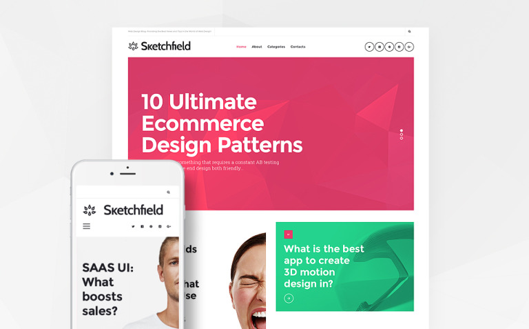Sketchfield WordPress Theme New Screenshots BIG