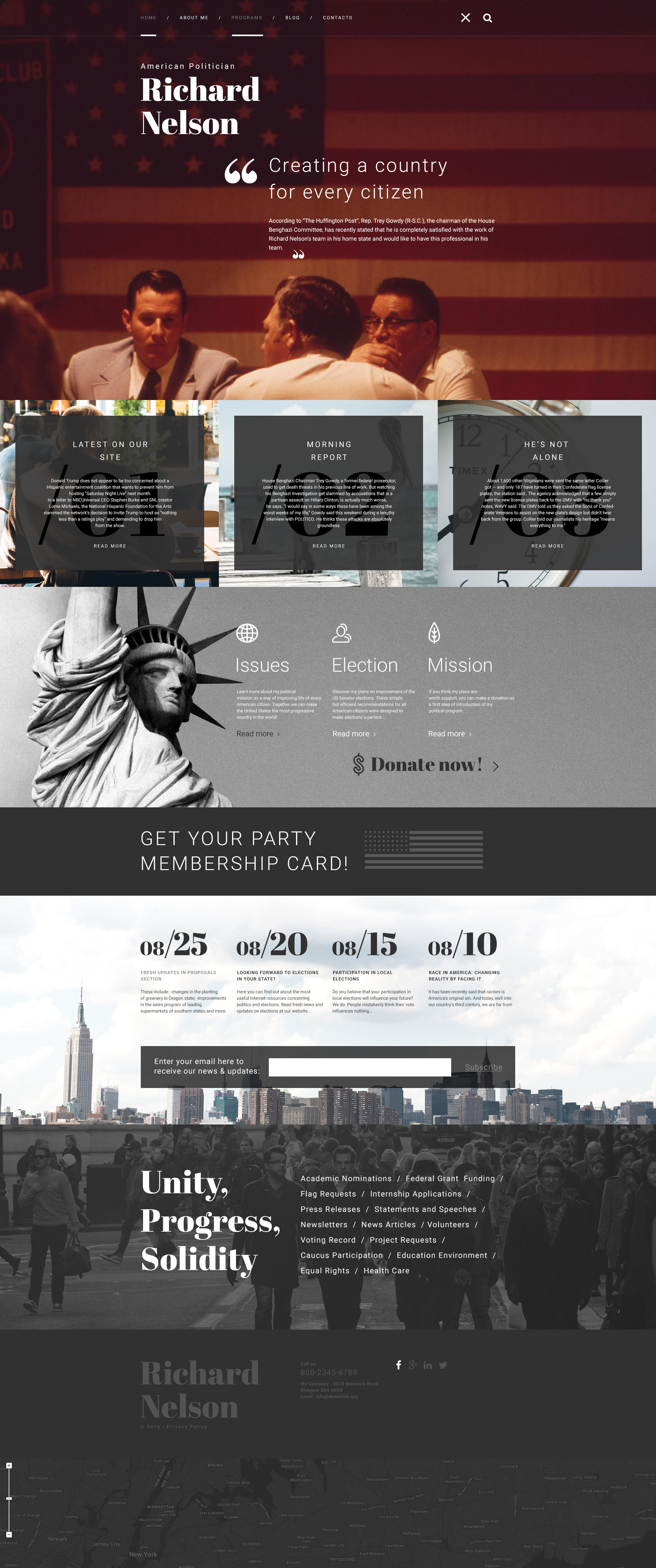 "Tema De WordPress ""American Politician"" #58658"