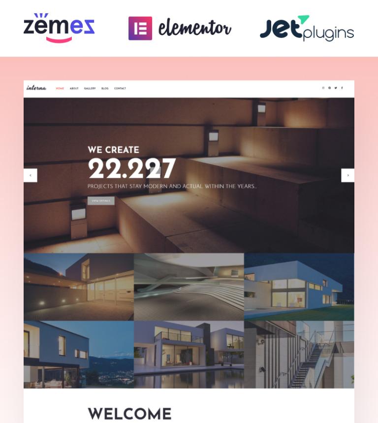 Tema de WordPress #58640 para Sitio de Arquitectura