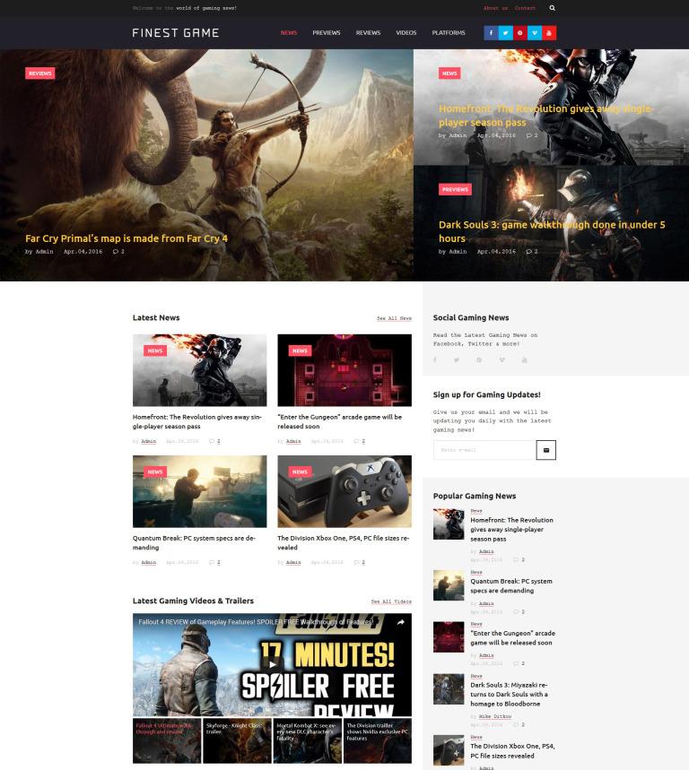 Tema de WordPress #58659 para Sitio de Portal de Juegos