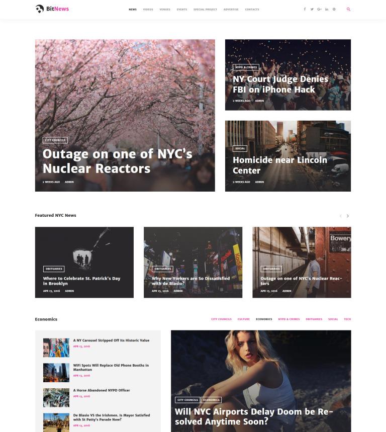 Tema de WordPress #58664 para Sitio de Portal de Noticias