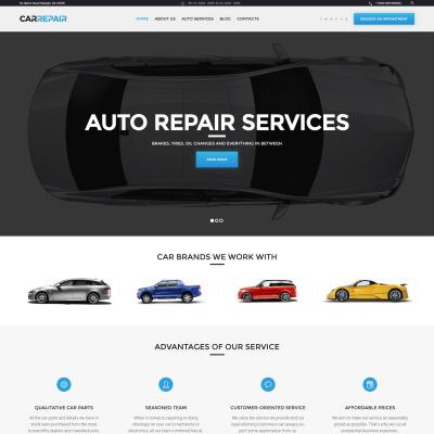 Tema de WordPress #46549 para Sitio de Reparación de coches