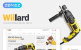 Thème WooCommerce adaptatif  pour site d'outils et d'équipement