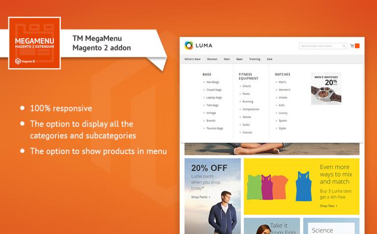 TM Mega Menu Magento Extension New Screenshots BIG