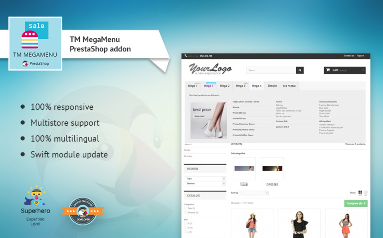 TM MegaMenu PrestaShop Module New Screenshots BIG