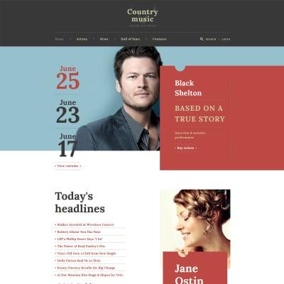 Website Vorlage #48145 für Berühmte Personen