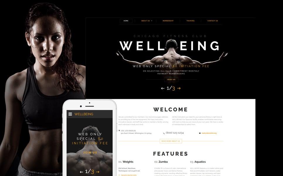 website vorlage 58632 f r fitness