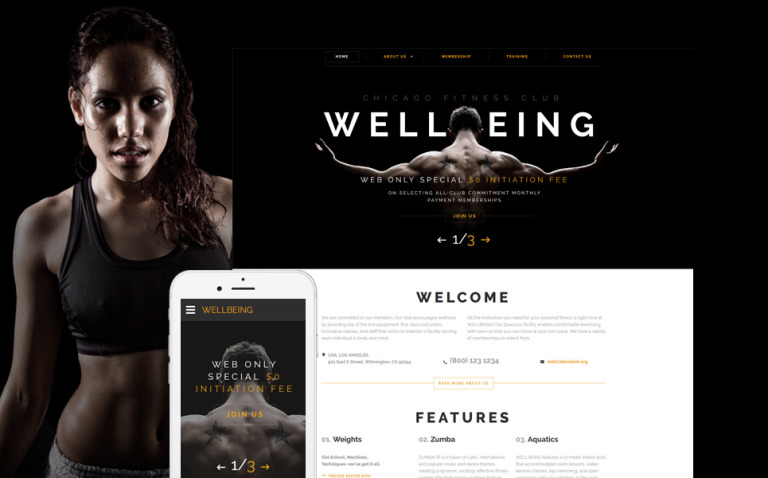 Wellbeing Website Template New Screenshots BIG