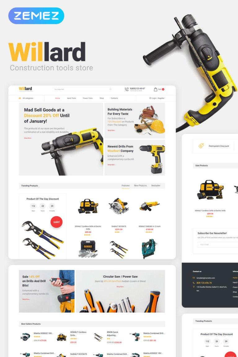 Willard - Tools & Hardware WooCommerce Theme New Screenshots BIG