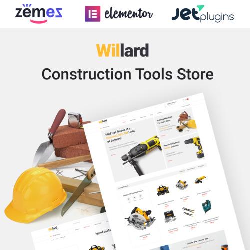 Willard - Tools & Hardware - HTML5 WooCommerce Template