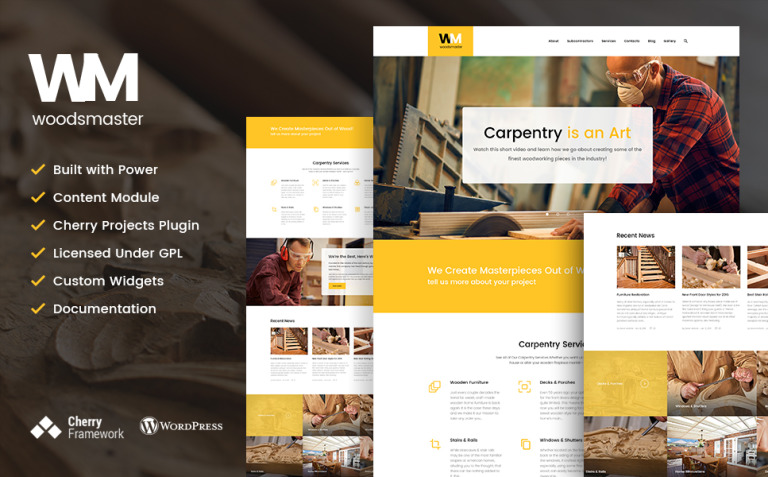 Woodsmaster - Carpenter & Handyman WordPress Theme New Screenshots BIG