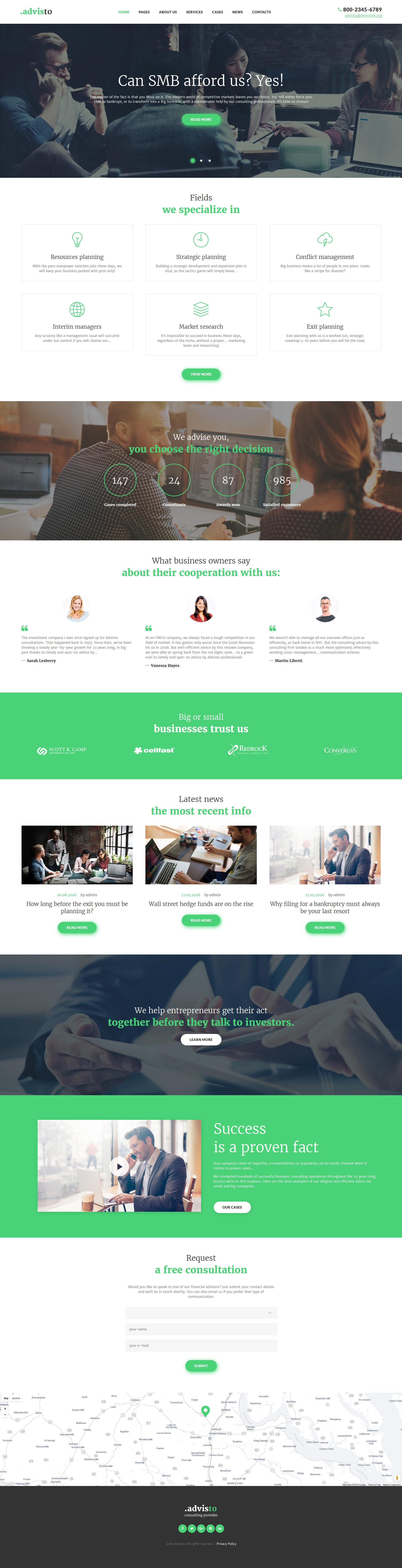 "WordPress Theme namens ""Advisto - Finanzberater"" #58672 - Screenshot"