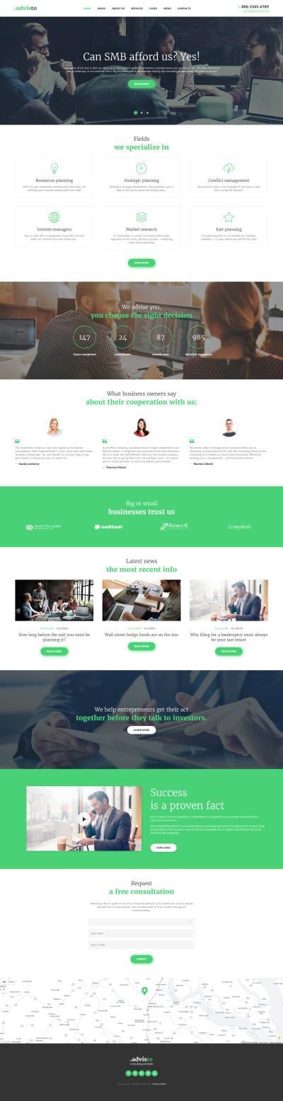 Responsives WordPress Theme für Beratung