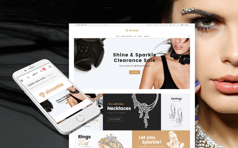Zirconia - Jewelry & Accessories Store Responsive WooCommerce Theme New Screenshots BIG