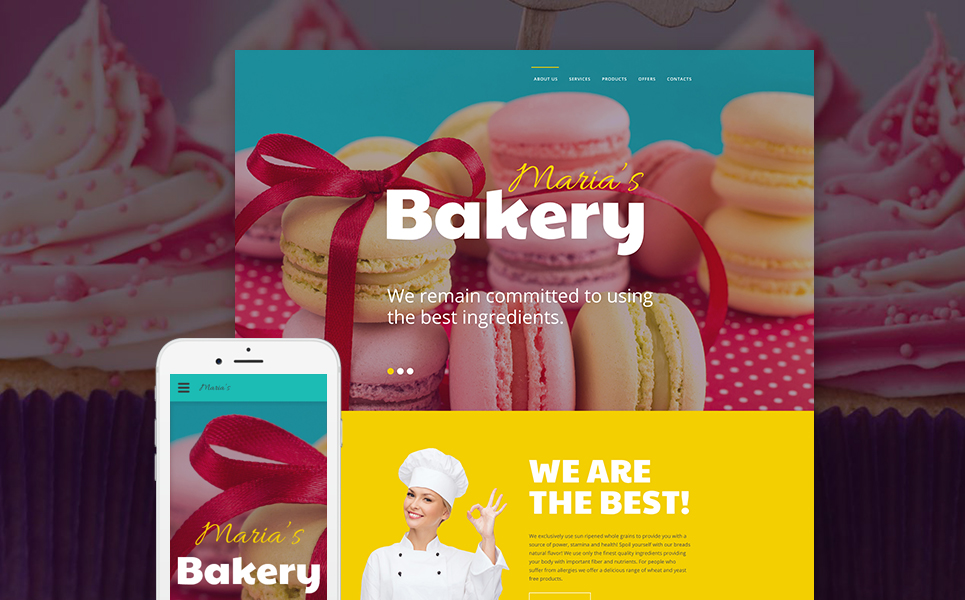 Maria's Bakery template illustration image