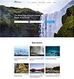 Travel Website  Template 58702