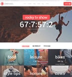 Media Website  Template 58727