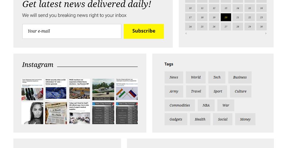 Website Vorlage #58731 für Nachrichtenportal