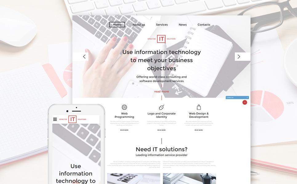 Responsive Website template over IT  New Screenshots BIG