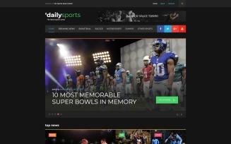 DailySports Website Template