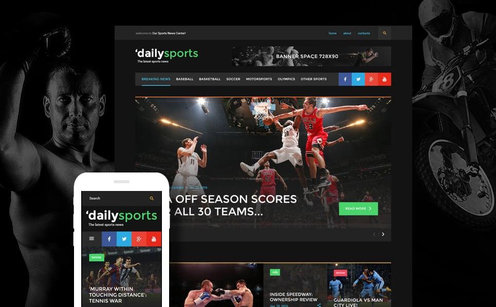 Responsive Website template over Sportnieuws New Screenshots BIG
