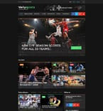 Sport Website  Template 58737