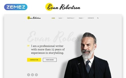 Evan Robertson - Personal Multipage Clean HTML Bootstrap Website Template