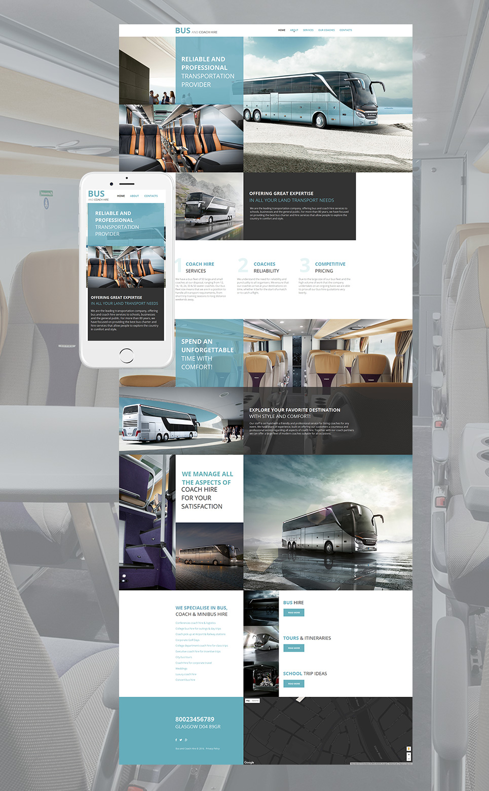 Bus and Coach Hire html HTML Website Template - image
