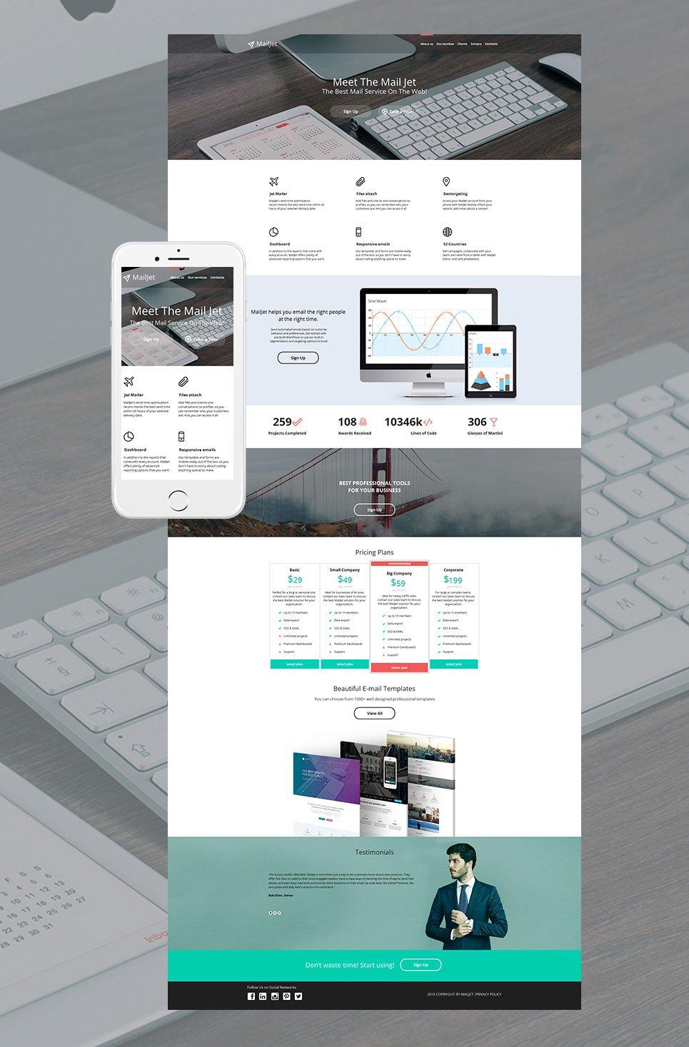 MailJet html HTML Website Template - image