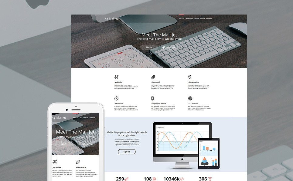 Premium Moto CMS HTML Template over E-mail Diensten  New Screenshots BIG
