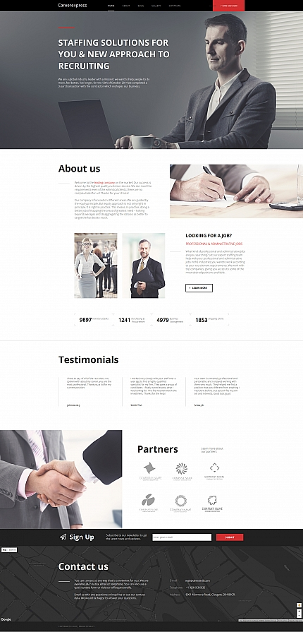 ADOBE Photoshop Template 58748 Home Page Screenshot