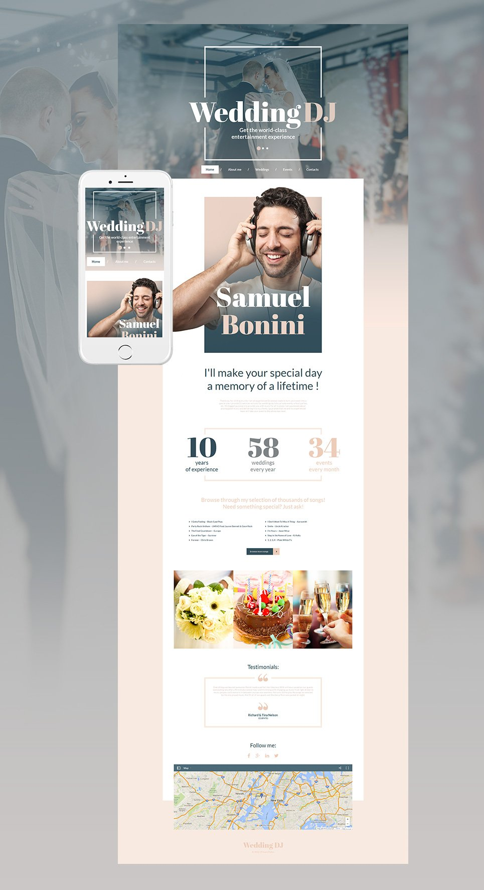 Wedding DJ html HTML Website Template - image