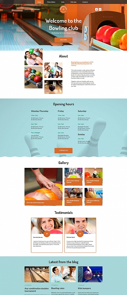 ADOBE Photoshop Template 58750 Home Page Screenshot