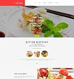 Cafe & Restaurant Moto CMS HTML  Template 58751
