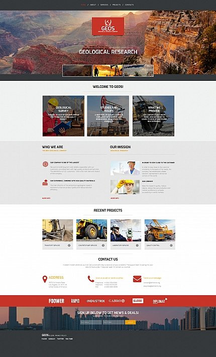 ADOBE Photoshop Template 58752 Home Page Screenshot