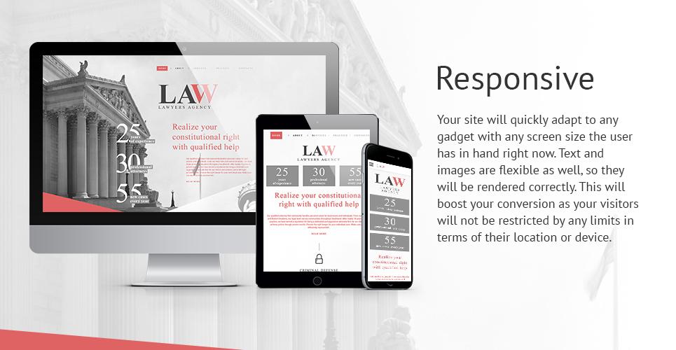 Lawyers Bureau  Responsive Website Template