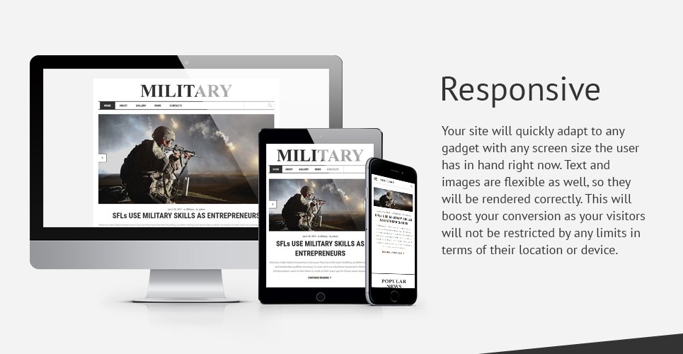 Military Rank  Responsive Website Template