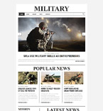 Military Website  Template 58754