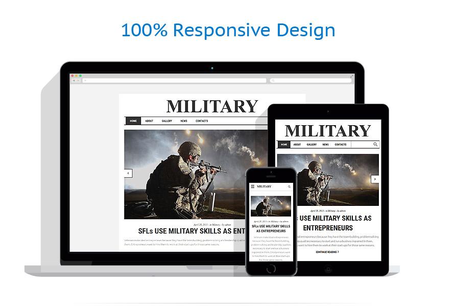 Modèles HTML5 Militaire #58754