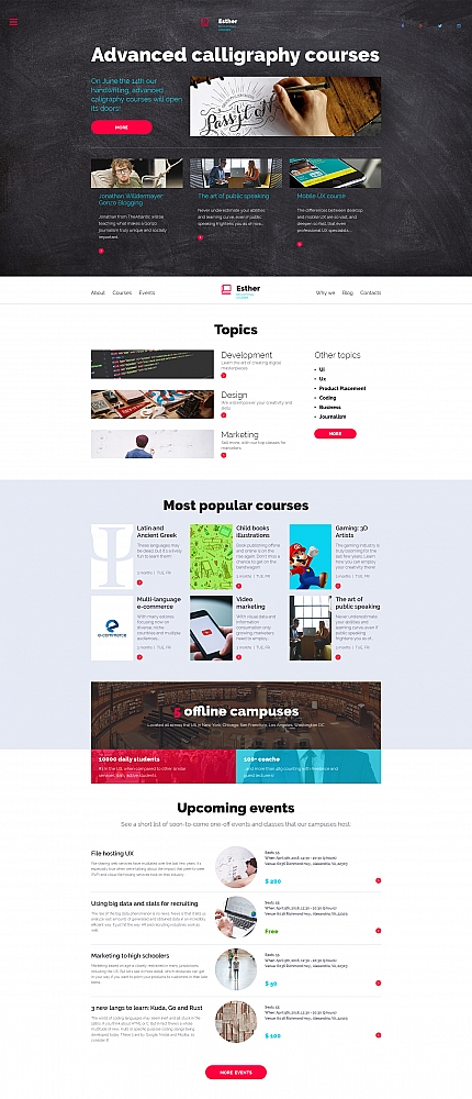 ADOBE Photoshop Template 58767 Home Page Screenshot