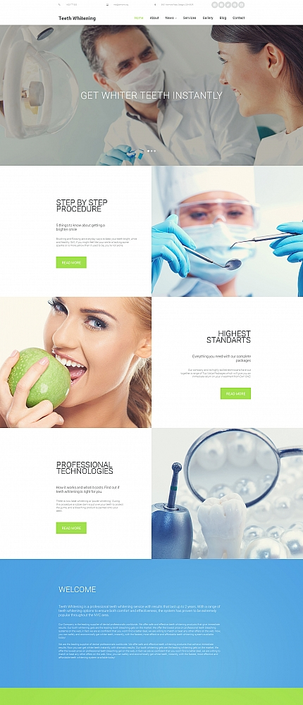 ADOBE Photoshop Template 58773 Home Page Screenshot