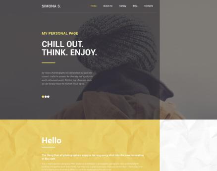 Simona S WordPress Theme
