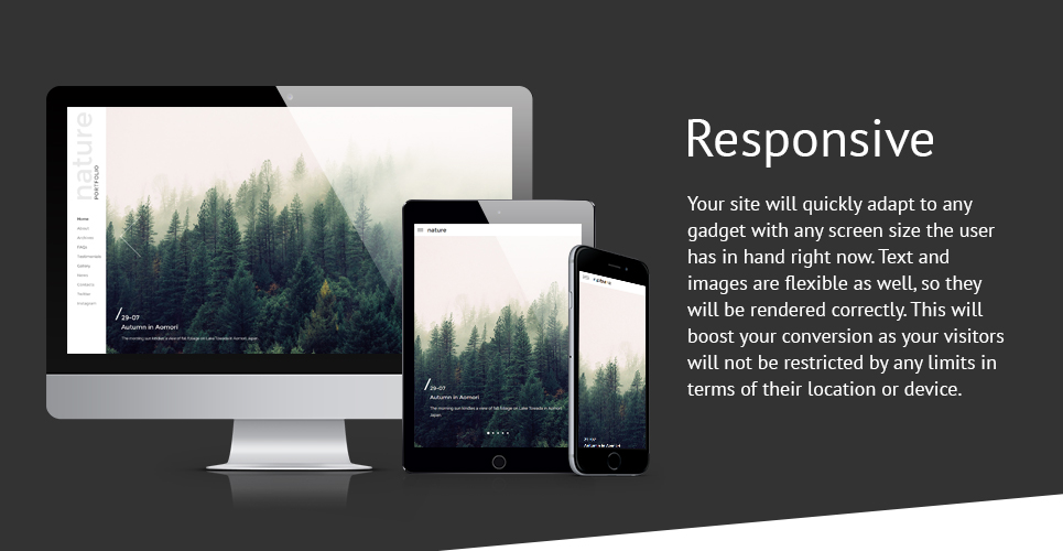 Photographer Portfolio Responsive Website Template with Slider, Gallery and Blog