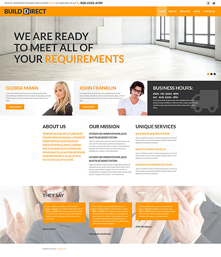 Joomla Theme/Template 58786 Main Page Screenshot