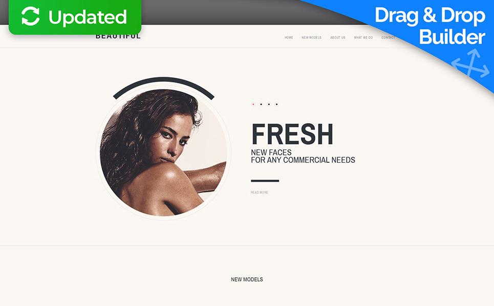 Reszponzív Modell ügynökségek Moto CMS 3 sablon New Screenshots BIG