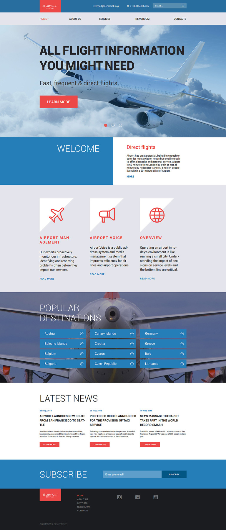 Airfares WordPress Theme New Screenshots BIG