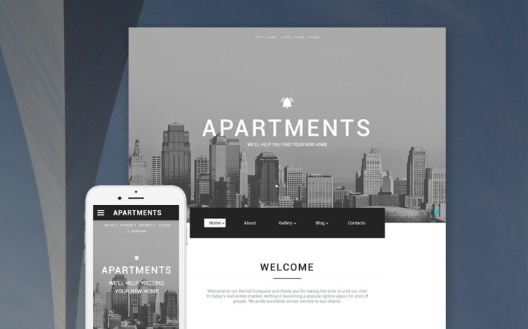 Apartments Website Template New Screenshots BIG